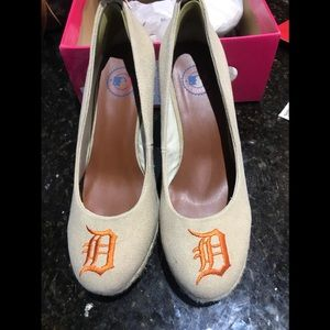 Shoes - Detroit tigers wedge shoes